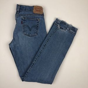 LEVI'S High Rise Wedgie Knee Rip Jeans Re/Done